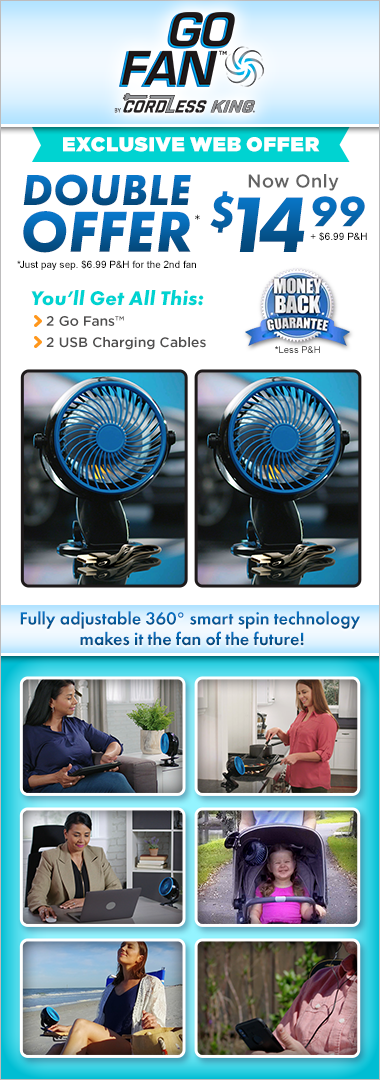 Order Go Fan™ Today!